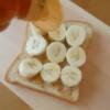 3分で完成ピーナッツバターバナナトースト