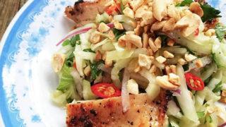 春キャベツとチキングリルのサラダ