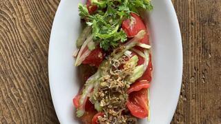 トマトとセロリのじゃこ葱油ジュッ