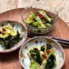 春キャベツと(クコのみと)わかめの簡単薬膳サラダ