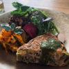 花蕾野菜とひじきのスパニッシュオムレツ