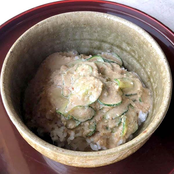 缶詰の魚で作る冷汁