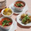 漁師風トマトスープ イワシとジャガイモのクロケット添え