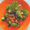 焼き野菜と厚揚げの赤ワイン味噌風