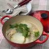 新玉ねぎのチキンスープ煮