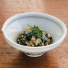納豆とわかめの練り胡麻ぽん酢和え