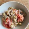 大豆と豚肉のトマトチーズ煮