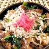 簡単小松菜と豚肉の炒め丼
