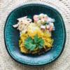 チキンと玉ねぎ、切り干し大根、干し椎茸のカレー