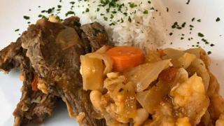 白インゲンとラム肉の煮込み