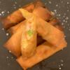 海老と空豆のスパイス春巻き