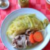 あったもの野菜と肉のスープ煮