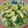 小松菜と豆富のオイスターチャンプルー