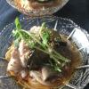ひらひら茄子と豚肉の冷やし麺