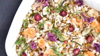押し麦とレンズ豆のマリネ