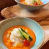 トマトとパプリカの冷製スープ
