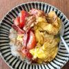 トマトと卵の黒酢しょうゆ炒め