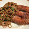 Soba Noodle Salad and Karaage