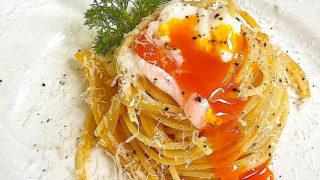 卵と玉ねぎのスパゲッティ