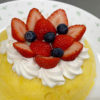 レンジで簡単ショートケーキ