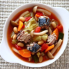 野菜たっぷりサバ缶トマトスープ