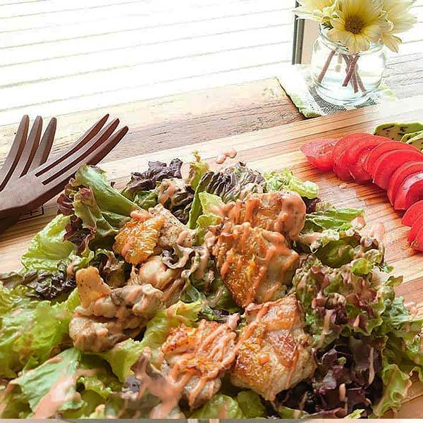シャキシャキレタスの巻き巻きケバブ風サラダ