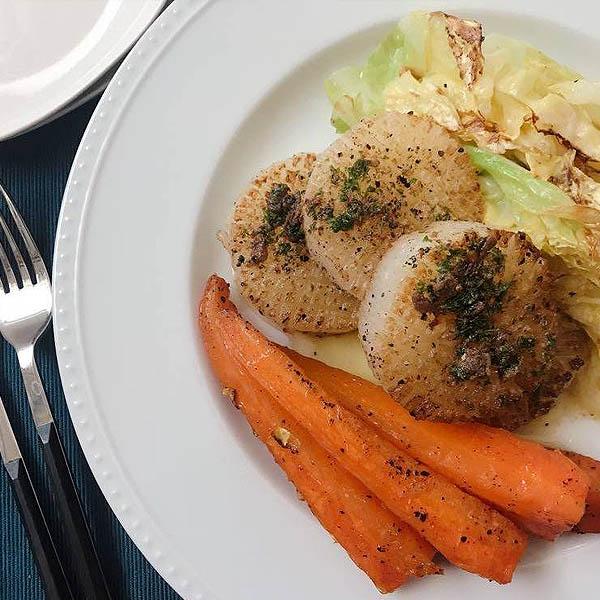 春野菜のじっくりグリル アンチョビバターソース