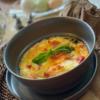 豆腐とサーモンのトマトソースグラタン