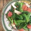 小松菜・トマト・エリンギの塩麹炒め