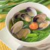 あさりとニラの長芋とろみスープ