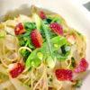 春のペペロンチーノスパゲティ