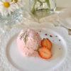 いちごのレアチーズアイス