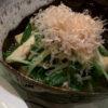 水菜とお揚げの煮浸し