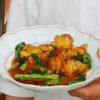 菜の花と鶏肉の炒め煮