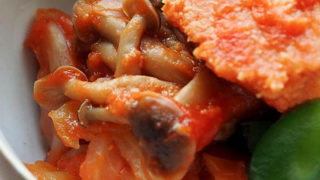 高野豆腐のトマト煮