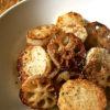 レンコンと長芋のゴマ油焼