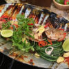 Fried Striped Bass with Thai Chili, Tamarind and Lime