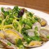 九条葱ペーストで和えたスパゲッティ ヴォンゴレ