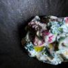 苺と春菊の白和え