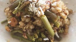 蕨と冷や玄米ご飯サラダ