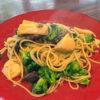 筍とブロッコリ、蛍イカのアンチョビガーリックソース スパゲッティ