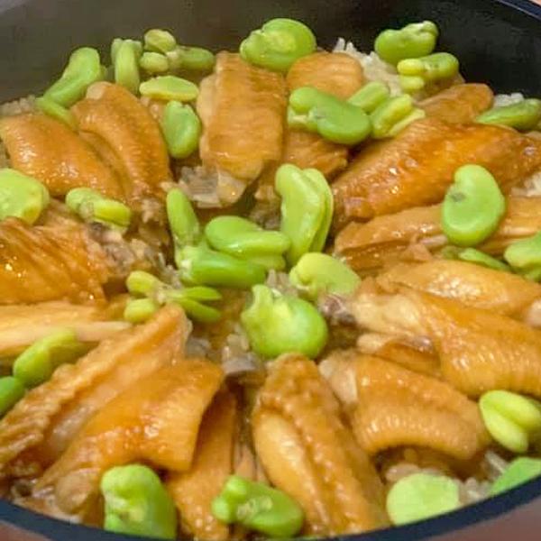 鶏手羽先のバター醤油香りご飯