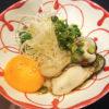 牡蠣とニラのユッケ