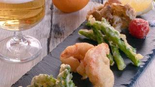 いろいろ野菜と海老のフリット
