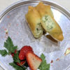 パセリとカッテージチーズの揚げ春巻き