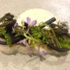 お魚のソテー 豆腐と新玉ねぎのソース