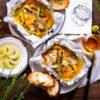 チキンと野菜のオレンジマスタードホイル焼き