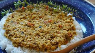豆腐の味噌ドライカレー