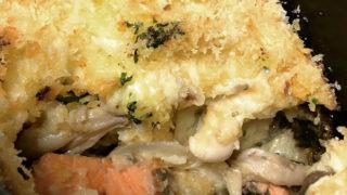 長芋と鮭のとろろグラタン
