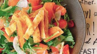 水菜と新玉葱のサラダ